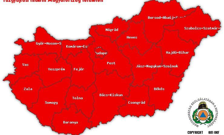 Tűzgyújtási tilalom Magyarország területén