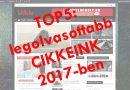 TOP5: legolvasottabb CIKKEINK 2017-ben