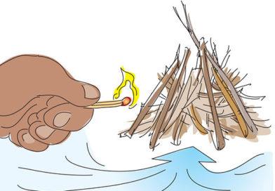 Tűztípusok – Tipi tűz és a Csillag vagy Pásztor tűz